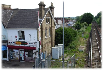shop next to railway line